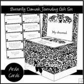 Butterfly Damask Journaling Gift Set