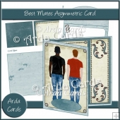 Best Mates Asymmetric Card