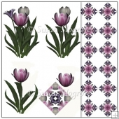 Spring Time Tulip Decoupage