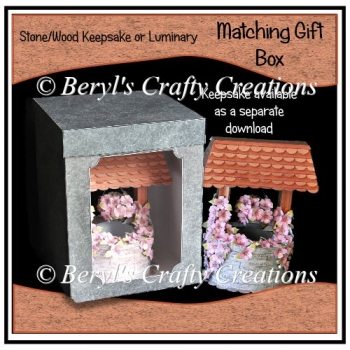 Wishing Well Keepsake - Gift Box - Stone Wood
