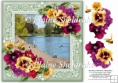 The Mere, Ellesmere, Shropshire 8 x 8 Decoupage Card Topper