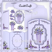 Pansy gatefold card set