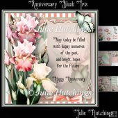 Blush Iris Anniversary Verse Card Front Kit