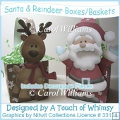 Santa & Reindeer Boxes/Baskets