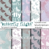 BUTTERFLY FLIGHT 10 printable A4 high quality digital papers