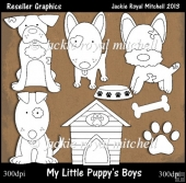 My Little Puppys Boys Colour Your Own Reseller Clipart