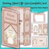 Potting Shed Off-Set Gatefold Birthday Card