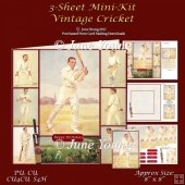 Vintage Cricket 3-Sheet Mini-Kit