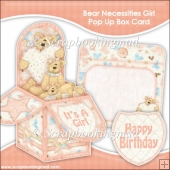 Bear Necessities Girl Pop Up Box Card