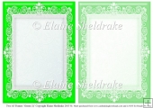 2 x A5 Green (1) Lace Frames for Card Making & Scrapbooking