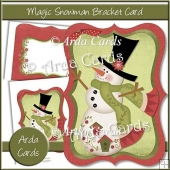 Magic Snowman Bracket Card