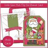 Little Saint Nick Pop Out Banner Card