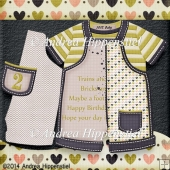 New Baby Romper Card Birthday boy