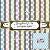 Chequer Board - Set One - Ten 12 x 12 Printable Sheets