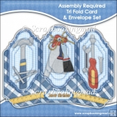 Assembly Required Tri Fold Card & Envelope Set