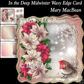 In the Deep Midwinter Wavy Edge Card