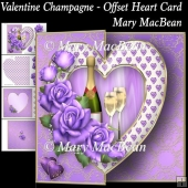 Valentine Champagne - Offset Heart Card