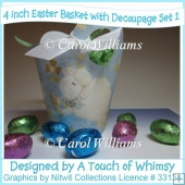 3 Easter Baskets with Decoupage