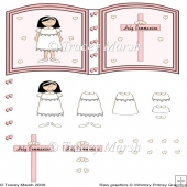 Girl Holy Communion Open Book Page
