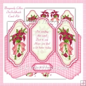 Burgundy Lilies Tri Foldback Card Kit