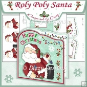 Roly Poly Santa! Card Kit