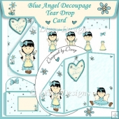 Blue Angel Tear Drop Card