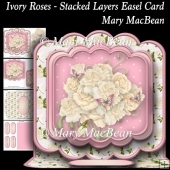 Ivory Roses - Stacked Layers Easel Card