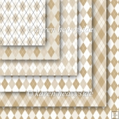 Coffee And Cream Argyle Pattern Papers