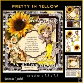 Pretty In Sunflowers Lady Topper Card Kit