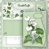 Wavy edge lily card set