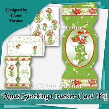 Xmas Stocking Cracker Card Kit