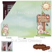 Easter Time Candy Bar Card for 1.55 Ounce Chocolate Bar