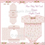 ROSE BABY GIRL VEST CARD