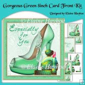 Gorgeous Green 8inch card Front Kit