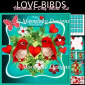 Love Birds Valentine's Day Mini Card KIt