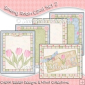 Spring Robin 5 Card Fronts Set 2