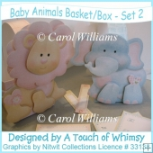 Baby Animals Basket / Box - Set 2
