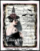 Vintage Tattooed Witch Collage Journal Cover