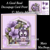 A Good Read - Decoupage Card Front