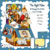 CHRISTMAS NATIVITY 3D POP UP BOX CARD KIT