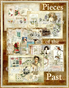 Pieces of the Past Collage Art Junk Journal Kit - 50 Files