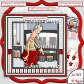 Oh No Not Another Grey Hair 7.5 Humorous Decoupage Mini Kit