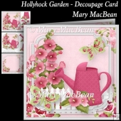 Hollyhock Garden - Decoupage Card