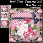 Simple Times - Decoupage Card