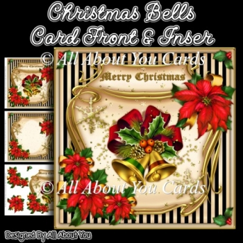 Christmas Bells Card Front & Insert