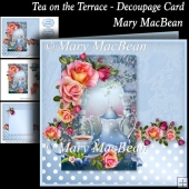 Tea on the Terrace - Decoupage Card