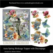 Aura Spring Birdcage Topper with Decoupage