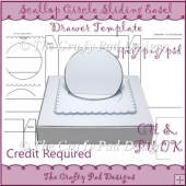 Scallop Circle Sliding Easel Drawer Template
