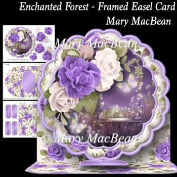 Enchanted Forest - Framed Easel Card