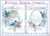 Winter Scene Christmas Card Insert